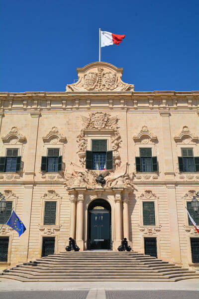 The Auberge de Castille in Valletta its facts and secrets.